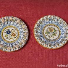 Antigüedades: PAREJA DE PLATOS CERAMICA DE TOLEDO. Lote 181035397