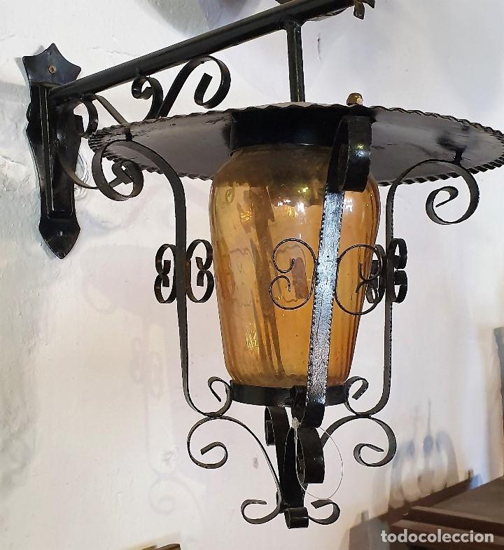 Antigüedades: FAROL DE FORJA - Foto 3 - 181076801