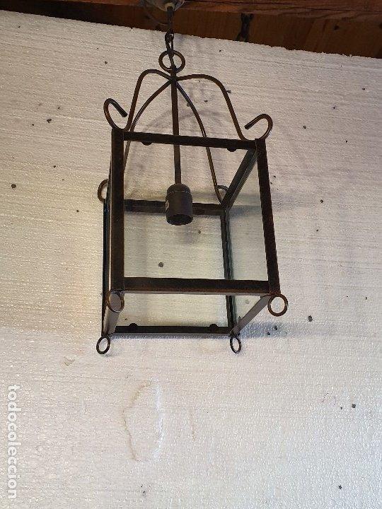 FAROL DE FORJA (Antigüedades - Iluminación - Faroles Antiguos)