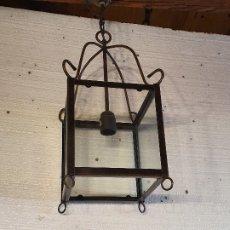 Antigüedades: FAROL DE FORJA. Lote 181077145