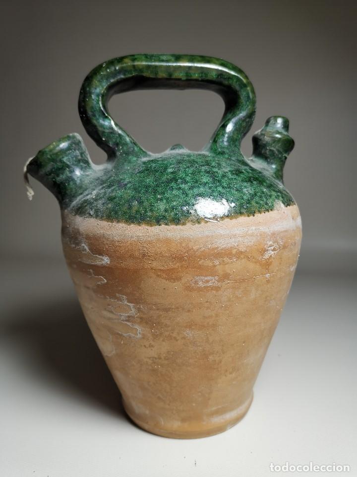 Antigüedades: ALFARERIA CATALANA POPULAR---BOTIJO--CANTIR--VIDRIADO.- REF-ZZ - Foto 2 - 181081550