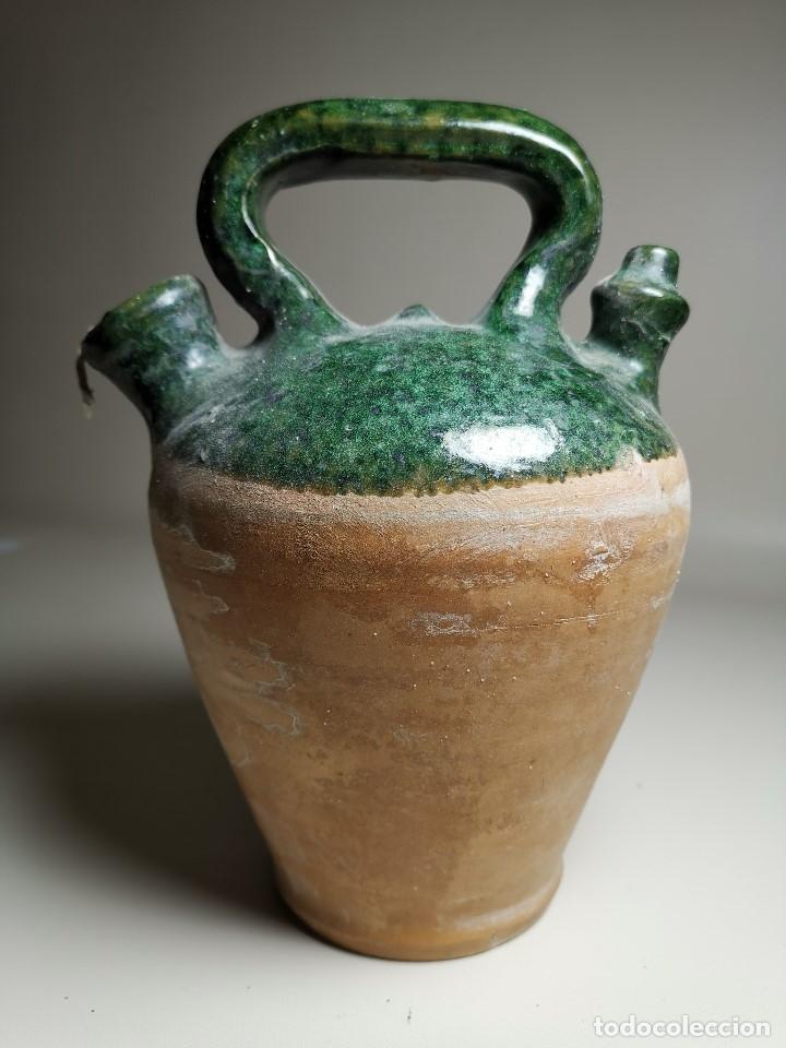 Antigüedades: ALFARERIA CATALANA POPULAR---BOTIJO--CANTIR--VIDRIADO.- REF-ZZ - Foto 4 - 181081550