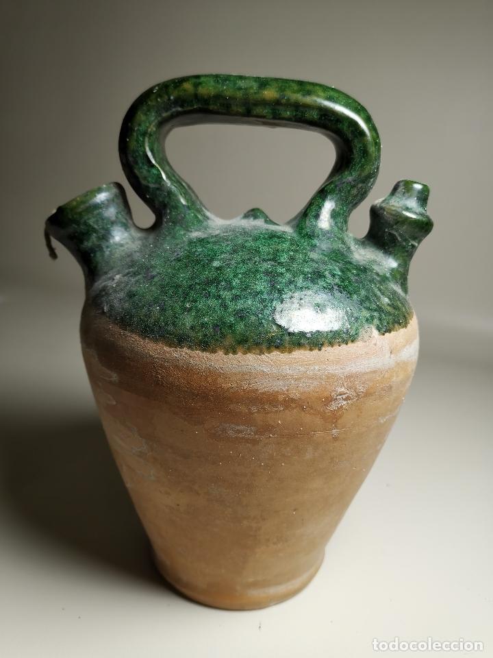 ALFARERIA CATALANA POPULAR---BOTIJO--CANTIR--VIDRIADO.- REF-ZZ (Antigüedades - Porcelanas y Cerámicas - Catalana)