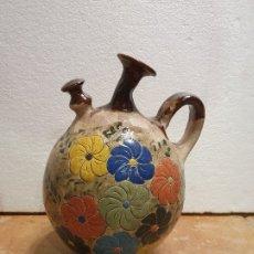 Antigüedades: BOTIJO CERAMICA FIRMADO. Lote 181098558