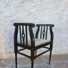 Antigüedades: BANQUETA DESCALZADORA ANTIGUA. Lote 181099225