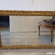 Antigüedades: ESPEJO DE MADERA PAN DE ORO. Lote 181099720