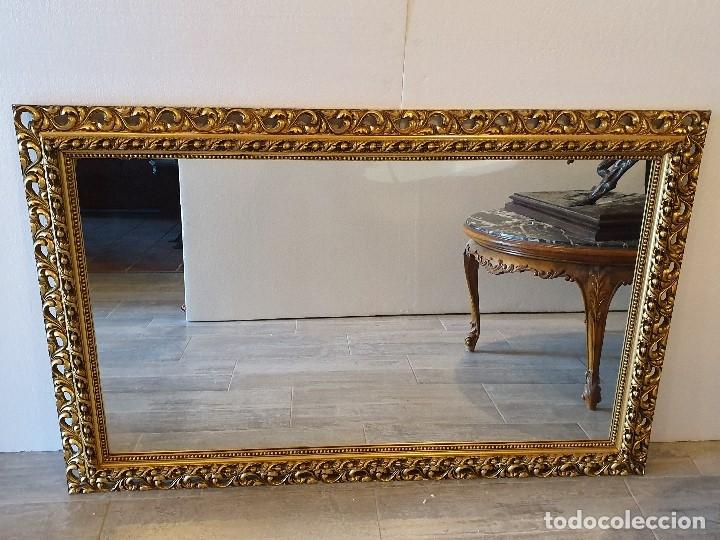 Antigüedades: ESPEJO DE MADERA PAN DE ORO - Foto 2 - 181099720