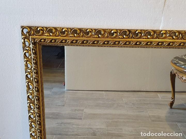 Antigüedades: ESPEJO DE MADERA PAN DE ORO - Foto 3 - 181099720