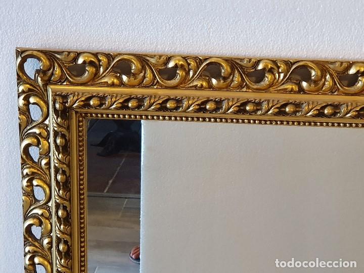 Antigüedades: ESPEJO DE MADERA PAN DE ORO - Foto 4 - 181099720