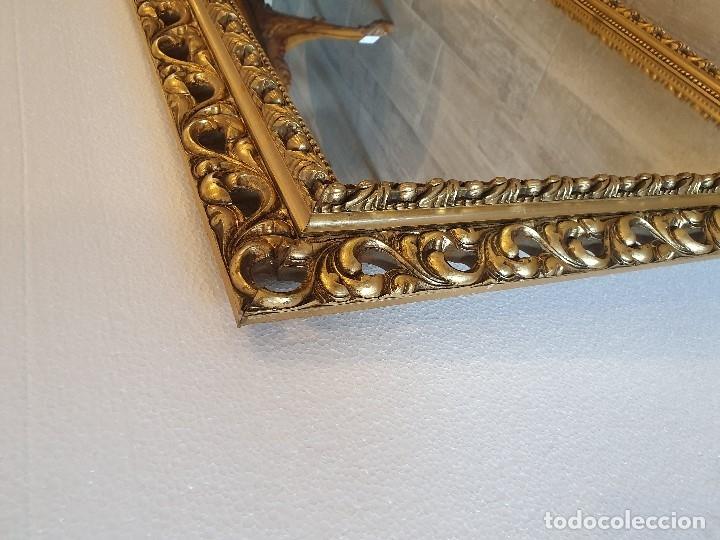 Antigüedades: ESPEJO DE MADERA PAN DE ORO - Foto 5 - 181099720