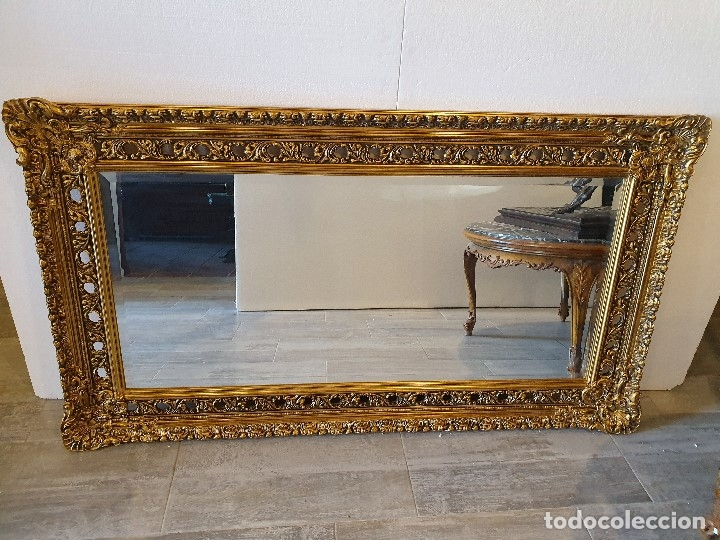 Antigüedades: ESPEJO PAN DE ORO - Foto 3 - 181099762