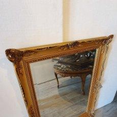 Antigüedades: ESPEJO PASTA PAN DE ORO. Lote 181099808