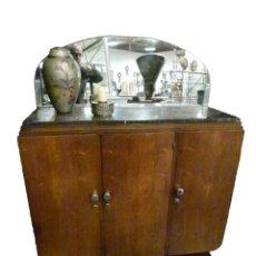 Antigüedades: MUEBLE APARADOR BAR ART DECO. Lote 181102978