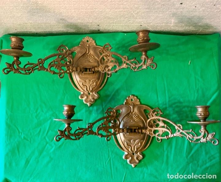 Antigüedades: PAREJA DE APLIQUES DE PARED - Foto 3 - 181108173