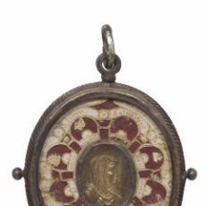 Antigüedades: RELICARIO DOBLE CARA, PLATA. S.XVIII. Lote 181112087