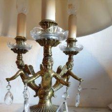 Antigüedades: LAMPARA DE SOBREMESA EN BRONCE. Lote 181117466