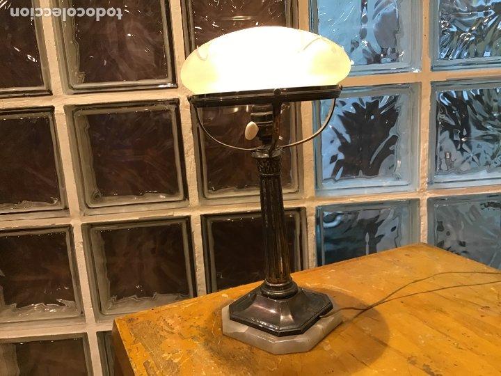 CABOT LBB, LÁMPARA DE SOBREMESA DE PLATA, AÑOS 40/50 (Antigüedades - Iluminación - Lámparas Antiguas)