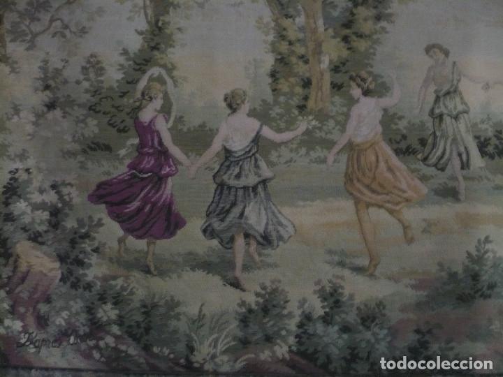 Antigüedades: Tapiz echo a máquina años 1950 Aprés Corot, con tema natural medidas: 205 X 155 cm - Foto 2 - 181171767