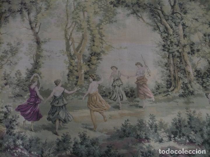 Antigüedades: Tapiz echo a máquina años 1950 Aprés Corot, con tema natural medidas: 205 X 155 cm - Foto 3 - 181171767