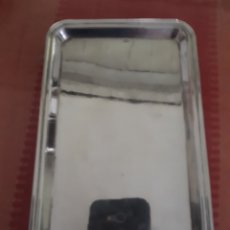 Antigüedades: BANDEJA DE PLATA DE LEY DEL XIX. Lote 181178320