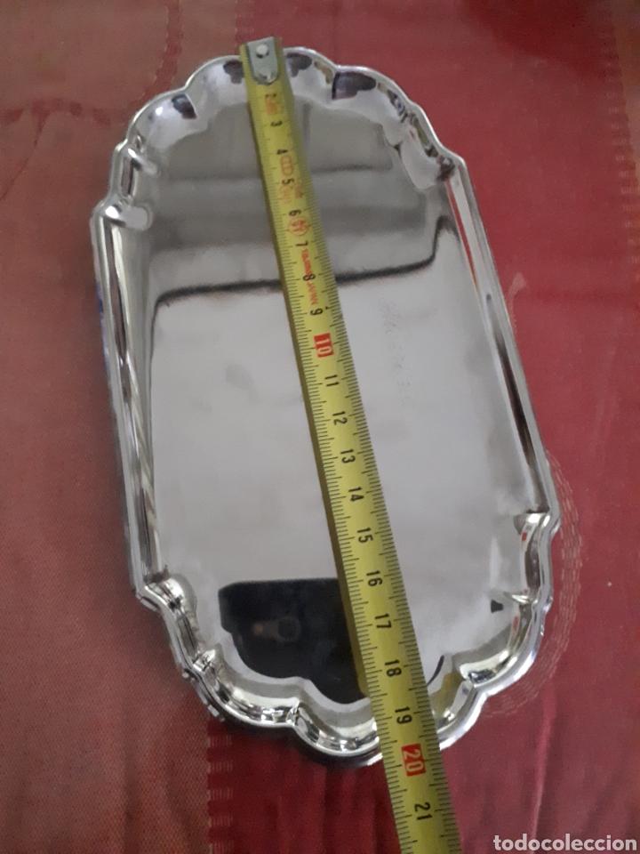 Antigüedades: Bandeja de plata de ley siglo XIX - Foto 4 - 181180675
