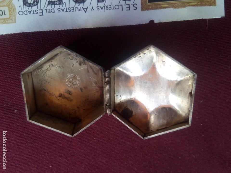 Antigüedades: Cajita de plata contrastada de 925 milésimas y piedra - Foto 2 - 181189217
