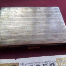 Antigüedades: PITILLERA INGLESA DE PLATA CONTRASTADA. 181 GRAMOS. Lote 181189516
