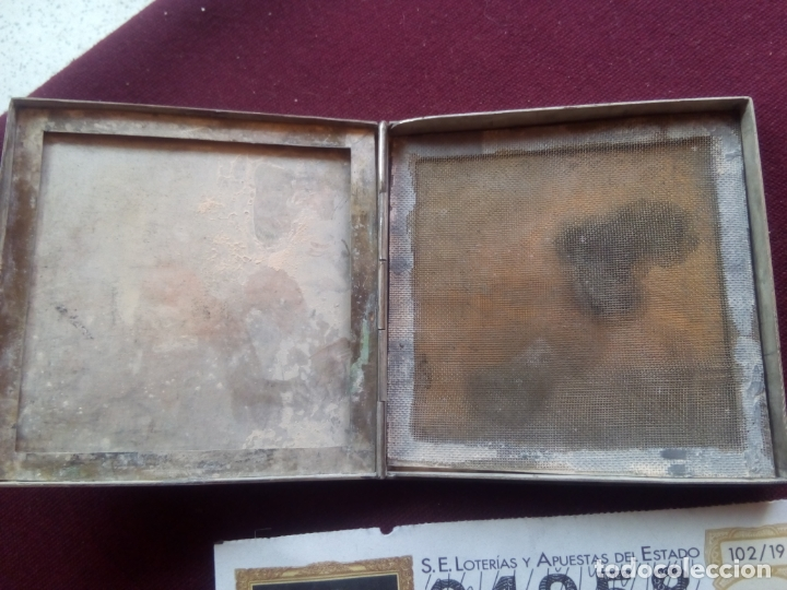 Antigüedades: Caja antigua de maquillaje de plata. 102,7 gramos - Foto 2 - 181189688