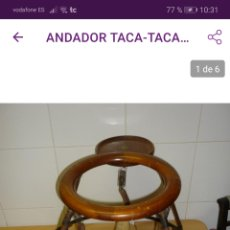 Antigüedades: ANDADOR.. TACA TACA.. 1900...MARCA AMERICANA...GLASCOCK BABY... Lote 181193156