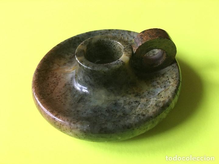 PORTAVELA DE MARMOL O SIMILAR (Antigüedades - Hogar y Decoración - Portavelas Antiguas)