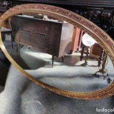 Antigüedades: ESPEJO ANTIGUO DE MADERA CON PAN DE ORO. Lote 181315186