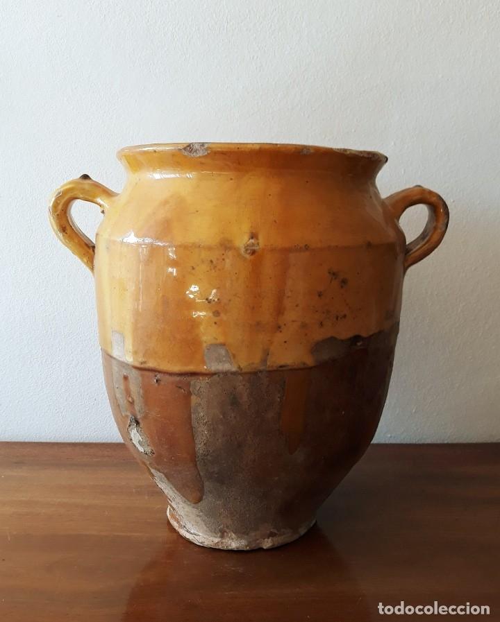 Antigüedades: Maceta o Jarra en Cerámica Siglo XIX. Francia. Confit de Pato - Foto 3 - 181318921