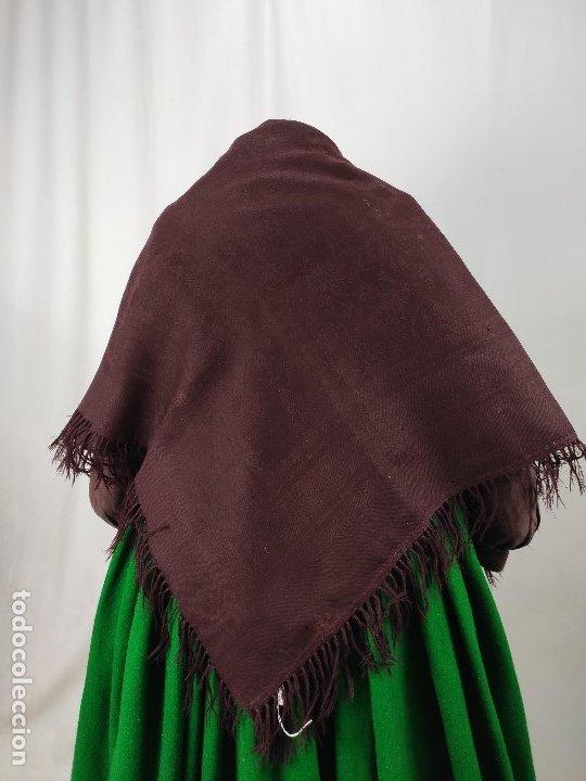 Antigüedades: Antiguo mantón de merino color vinagre - Foto 3 - 181335000