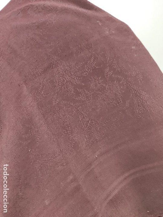 Antigüedades: Antiguo mantón de merino color vinagre - Foto 5 - 181335000