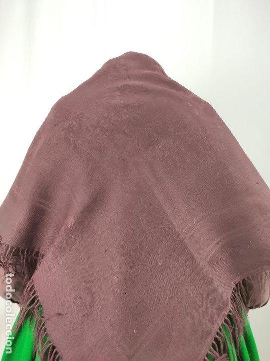 Antigüedades: Antiguo mantón de merino color vinagre - Foto 6 - 181335000