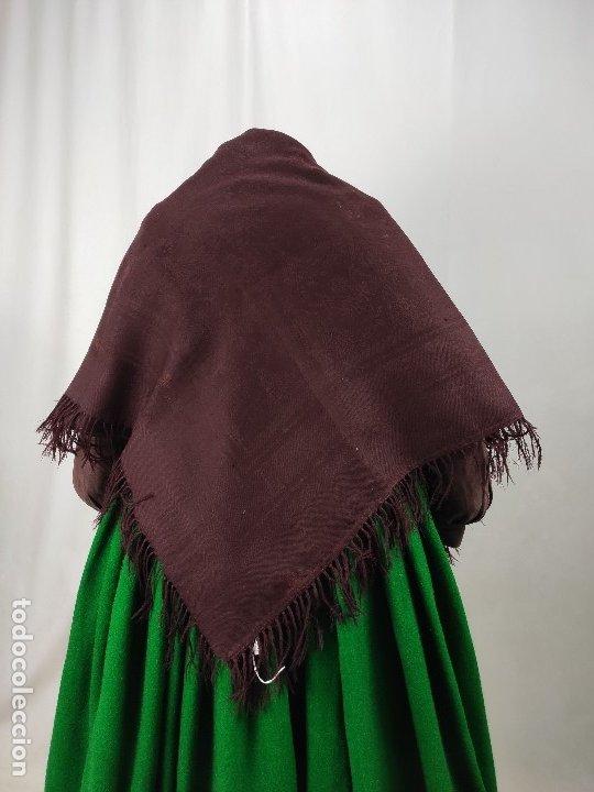 Antigüedades: Antiguo mantón de merino color vinagre - Foto 7 - 181335000