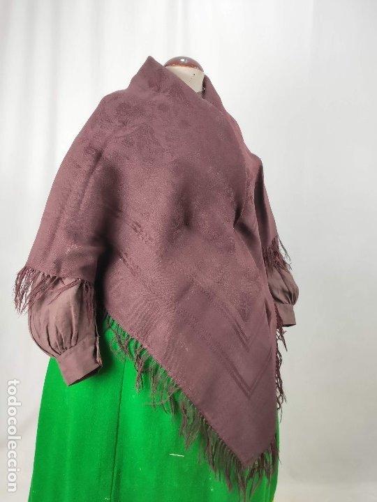 Antigüedades: Antiguo mantón de merino color vinagre - Foto 9 - 181335000