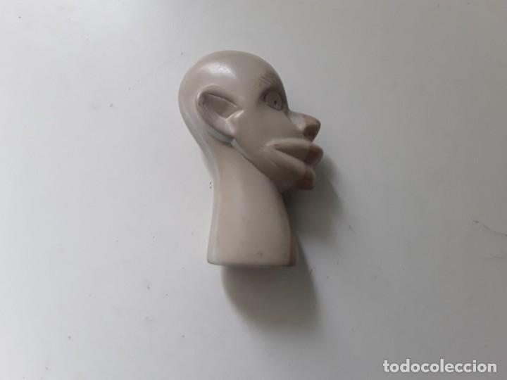Antigüedades: Cabeza de hombre con rasgos africanos u orientales. En piedra. 10.5 cm x 7.5 cm x 3.6 cm aprox - Foto 8 - 181340173