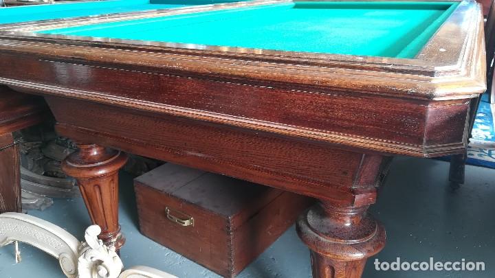Antigüedades: MESA BILLAR DE TRES BANDAS - Foto 5 - 181347468