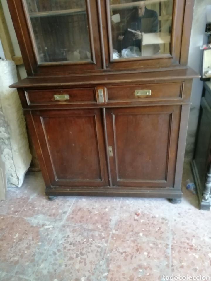 Antigüedades: Mueble vitrina del siglo xix - Foto 3 - 181352273