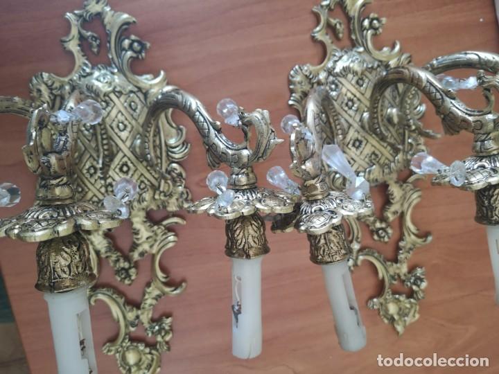 Antigüedades: Apliques en bronce - Foto 9 - 181358597