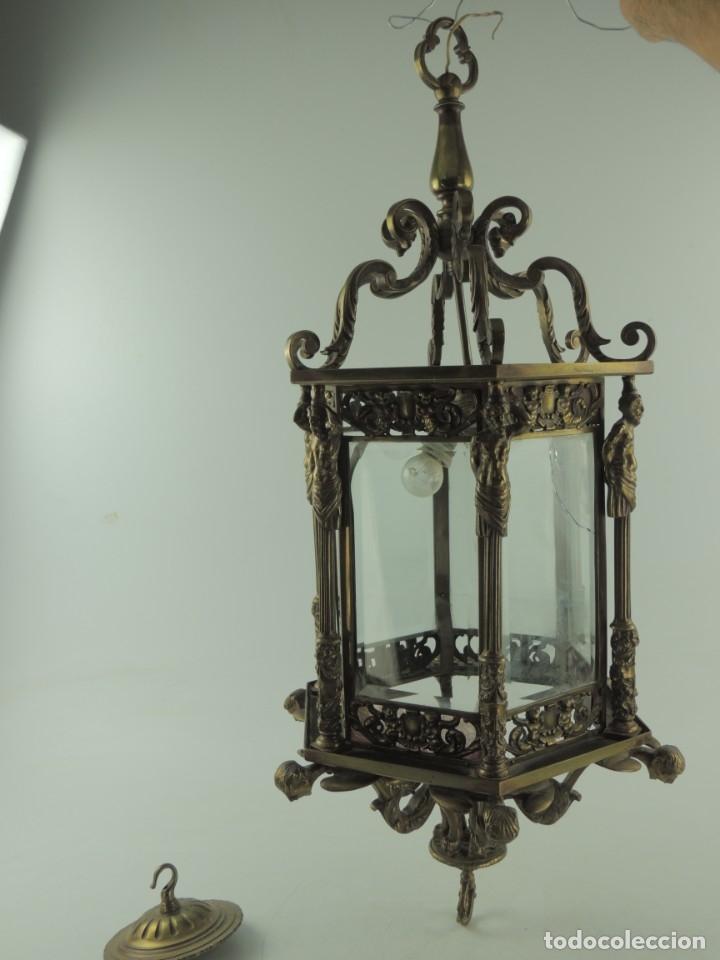 ANTIGUA ESPECTACULAR LAMPARA DE TECHO EXCELENTE OBJETO DE DECORACIÓN ¡SOLO RECOGIDA LOCAL! (Antigüedades - Iluminación - Lámparas Antiguas)