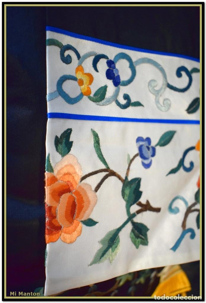 Antigüedades: Mi Manton . Antiguo kimono seda bordado a mano S XiX - Foto 6 - 181396575