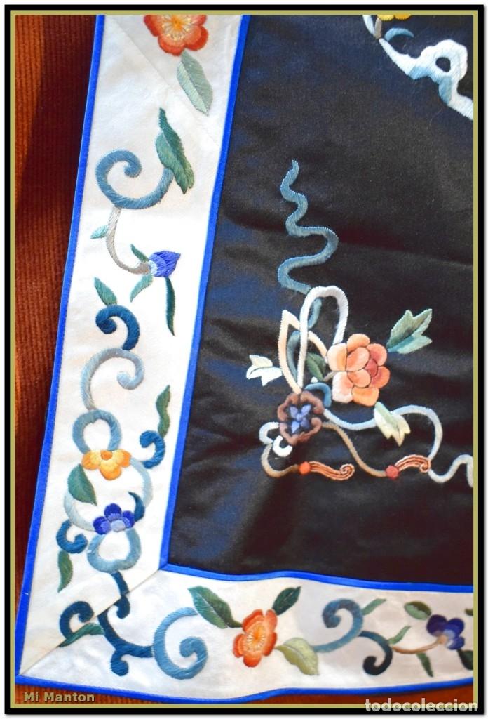 Antigüedades: Mi Manton . Antiguo kimono seda bordado a mano S XiX - Foto 7 - 181396575