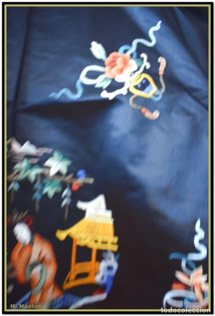 Antigüedades: Mi Manton . Antiguo kimono seda bordado a mano S XiX - Foto 10 - 181396575