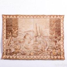 Antigüedades: TAPIZ ANTIGUO ROMÁNTICO. Lote 181399535