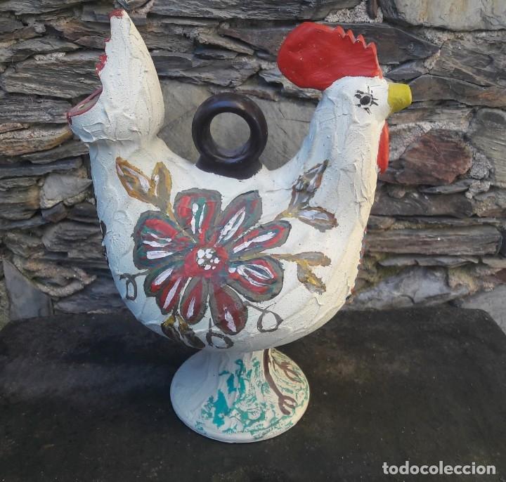 Antigüedades: Botijo,Cantaro forma de gallo - Foto 7 - 181409977