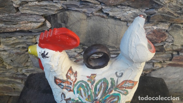 Antigüedades: Botijo,Cantaro forma de gallo - Foto 8 - 181409977