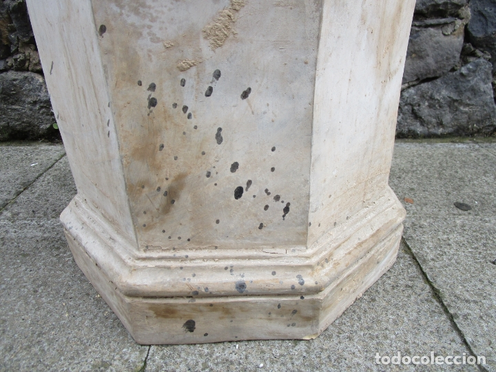 Antigüedades: Antigua Columna, Pedestal, Peana Terracota - Ideal Jardín - Jardinera, Copa, Fuente - S. XIX - Foto 3 - 181413482