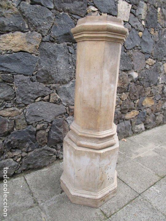 Antigüedades: Antigua Columna, Pedestal, Peana Terracota - Ideal Jardín - Jardinera, Copa, Fuente - S. XIX - Foto 8 - 181413482